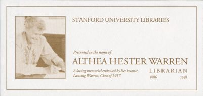 Althea Hester Warren Memorial Fund