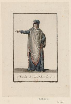 Membre du Conseil des Ancien [estampe]