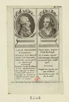 L.M. Le Pelletier St Fargeau Jean Paul Marat... : [estampe]