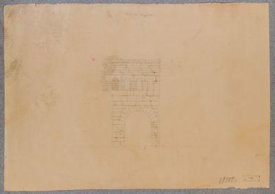 Porta Prenestina, prospetto della controporta onoriana