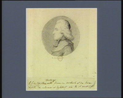 B.F.A. d'Andlaw d'Hombourg abbé prince de Murbach et de [ ?] député de Colmar et Helestadt né le 15 août 1761 député de Colmar : [dessin]