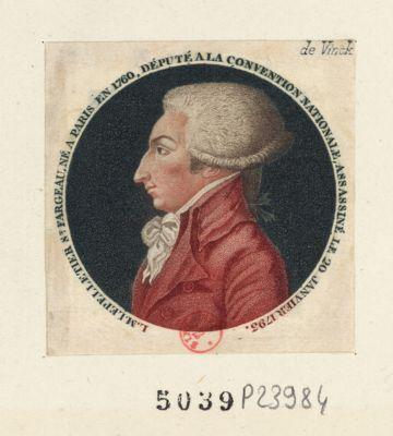 L.M. Le Pelletier St Fargeau, né à Paris [estampe]