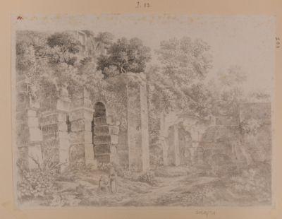 Colosseo, interno. Veduta parziale