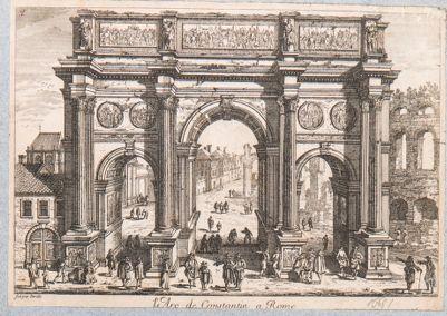 Arco di Costantino, veduta da ovest
