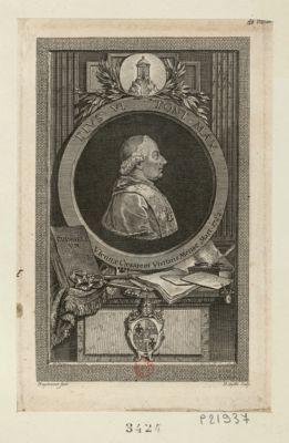 Pius VI Pont. max Viennae Caesarem visitans mense Mart. 1782 : [estampe]