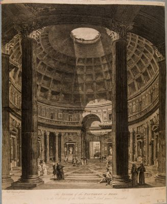 The inside of the Pantheon at Rome
