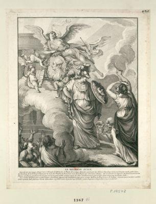 Le  Moderne Sully on voit sur un nuage dirigé vers le temple de memoire... : [estampe]
