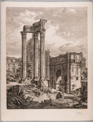 Tempio di Vespasiano, le tre colonne del pronao