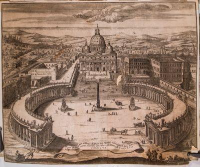 Disegno della prospettiva de Portici nella Piazza di S. Pietro in Vaticano