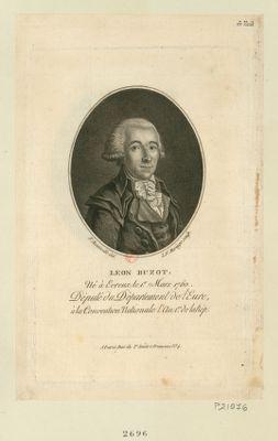 Leon Buzot né à Evreux le 1.er mars 1760. Député du département de l'Eure à la Convention nationale l'an 1.er de la Rép. : [estampe]