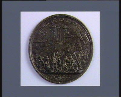 SIEGE DE LA BASTILLE EPOQUE DU 14 JUILLIET // <em>1789</em> DEDIE AUX // PATRIOTES