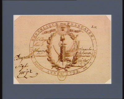 République française, année 1792 liberté égalité ou la mort : Section du Mail, le citoyen [...] rue d'[.. .]... : [estampe]