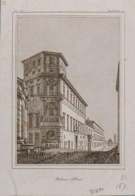 Palazzo del Drago, già Albani. Prospetto visto di scorcio