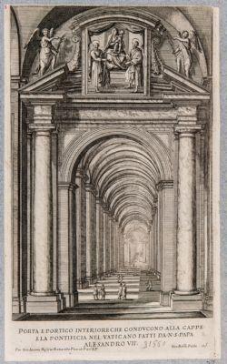 Porta e Portico interiore che conducono alla Cappella Pontificia