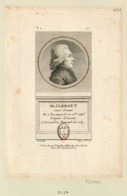 M. Clerget : curé d'Onans né à Besançon le 20 X.bre 1746 député d'Amont à l'Assemblée nationale de 1789 : [estampe]