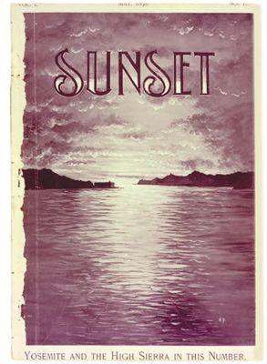Sunset Magazine cover. May 1898