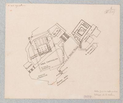 Campidoglio, pianta del Templum Iovis