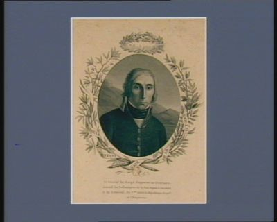 Massena enfant gaté de la Victoire ce général fut chargé d'apporter au Directoire executif, les preliminaires de la paix signés à Leoben... : [estampe]