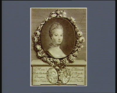 Marie Antoinette archi duchesse d'Autriche dauphine de France née à Vienne le 2 nov. 1755 : [estampe]