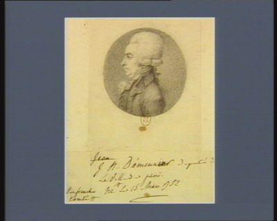 J.N. Démeunier député de la ville de <em>Paris</em> né en Franche Comté le 15 mars 1752 : [dessin]