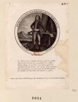 Hoche, general en chef de l'armée du nord, Sembre et Meuse, né à Versailles le 24 juin 1768 [estampe]