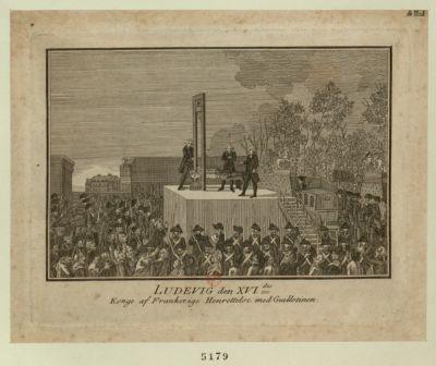 Ludevig den XVI.des Konge af Frankerige Henrettelse med Guillotinen [estampe]