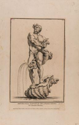 Tritone della fontana in capo a piazza Navona del cavalier Bernini