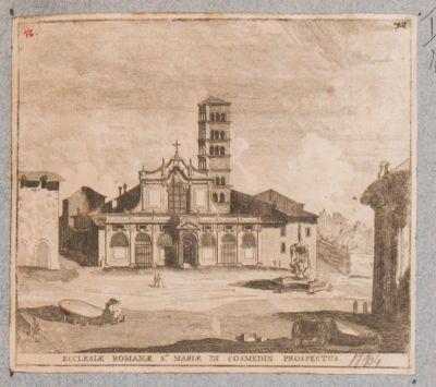 Santa Maria in Cosmedin, facciata veduta dalla piazza antistante