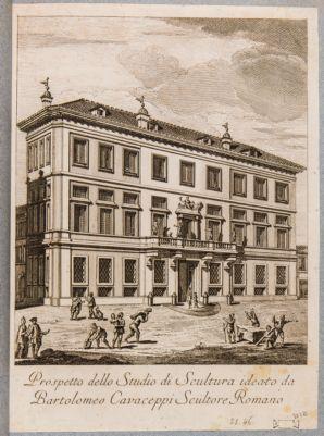 Palazzo per Accademia di Belle Arti, prospetto per studio di scultura
