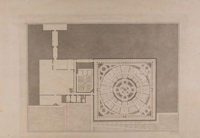 Terme di Diocleziano, pianta del chiostro dei Certosini