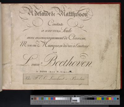 Adelaide de Matthison : cantate a une voix seule avec accompagnement de clavecin
