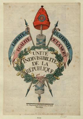 Unité indivisibilité de la République [estampe]