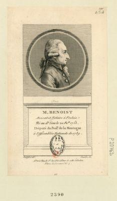 M. Benoist avocat et notaire à Frolois né au d.t lieu le 20 f.v.er 1753 député du bail.e de la Montagne à l'Assemblée nationale de 1789 : [estampe]
