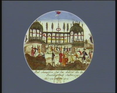 Bal champêtre sur les débris de la Bastille le 15 juillet 1790 ah ! ça ira, ça ira : [estampe]
