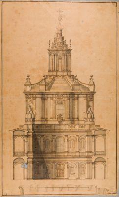 Chiesa di S. Ivo. Prospetto sul cortile della Sapienza