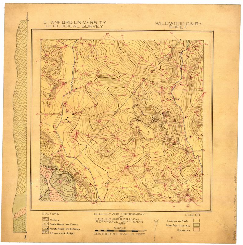 Wildwood dairy sheet : geology and topography
