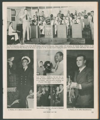 Article from NATS Packet May 1946 featuring Lu Watters