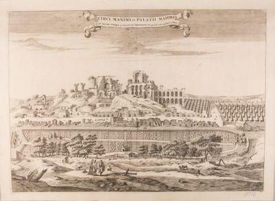 Palatino, veduta della Domus Severiana dal Circo Massimo