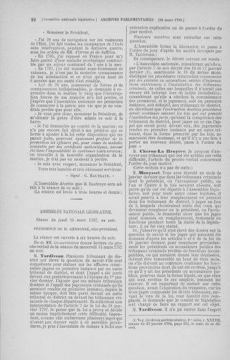 Tome 40 : Du 15 au 30 mars 1792 - page 22