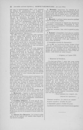 Tome 40 : Du 15 au 30 mars 1792 - page 32