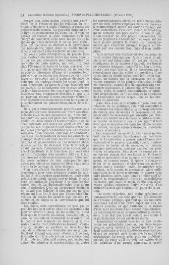 Tome 40 : Du 15 au 30 mars 1792 - page 64