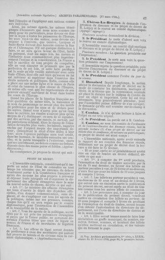 Tome 40 : Du 15 au 30 mars 1792 - page 67