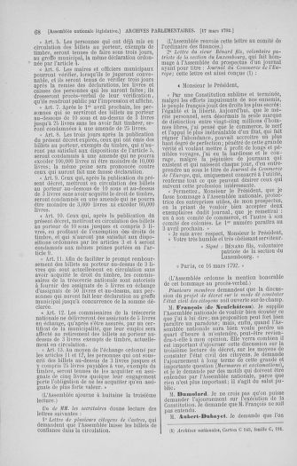 Tome 40 : Du 15 au 30 mars 1792 - page 68