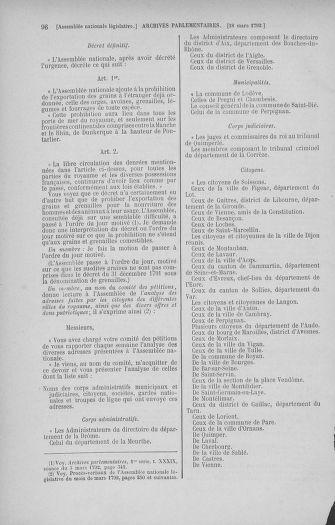 Tome 40 : Du 15 au 30 mars 1792 - page 96