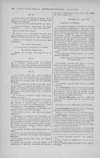 Tome 40 : Du 15 au 30 mars 1792 - page 102