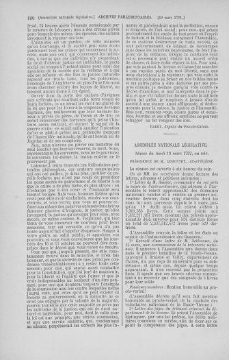 Tome 40 : Du 15 au 30 mars 1792 - page 160