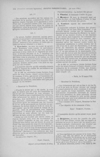 Tome 40 : Du 15 au 30 mars 1792 - page 162