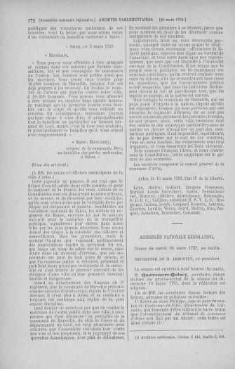 Tome 40 : Du 15 au 30 mars 1792 - page 172