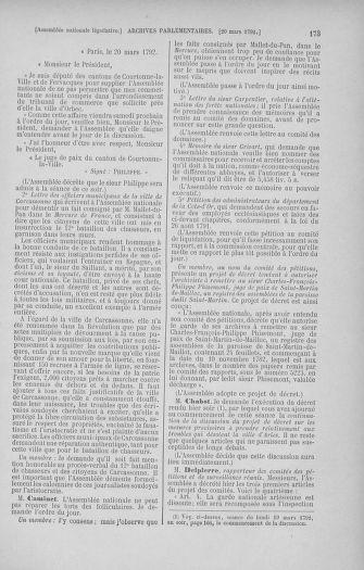 Tome 40 : Du 15 au 30 mars 1792 - page 173