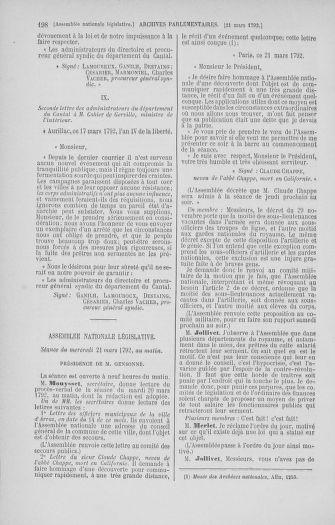 Tome 40 : Du 15 au 30 mars 1792 - page 198